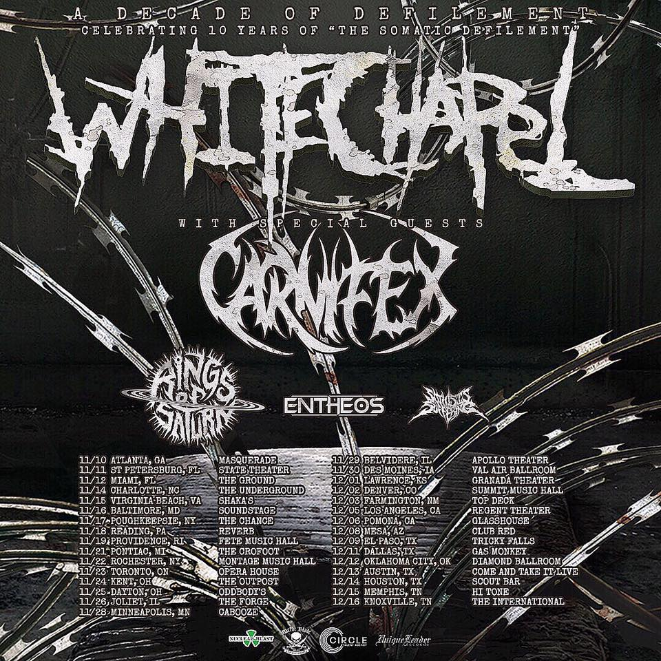 Whitechapel - Tour 2017