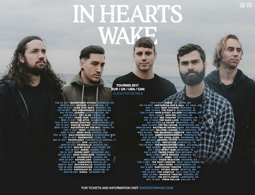 In Hearts Wake - Tour 2017