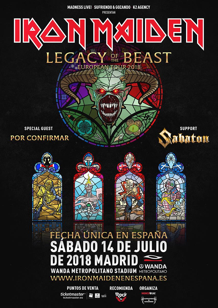 Iron Maiden - Tour 2018 - 14/07/2018 - Madrid - Comunidad