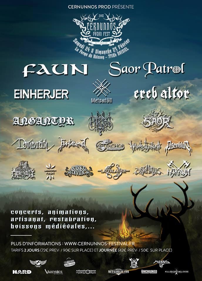 Cernunnos Pagan Fest 2018 - 24/02/2018 (2 days) - Noisiel - Ile de