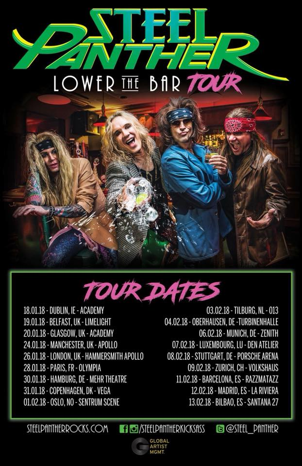 Steel Panther - Tour 2018