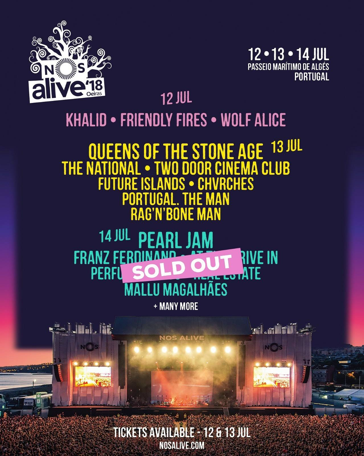 Pearl Jam Tour 2020 >> NOS Alive Festival 2018 - 12/07/2018 (3 days) - Lisboa