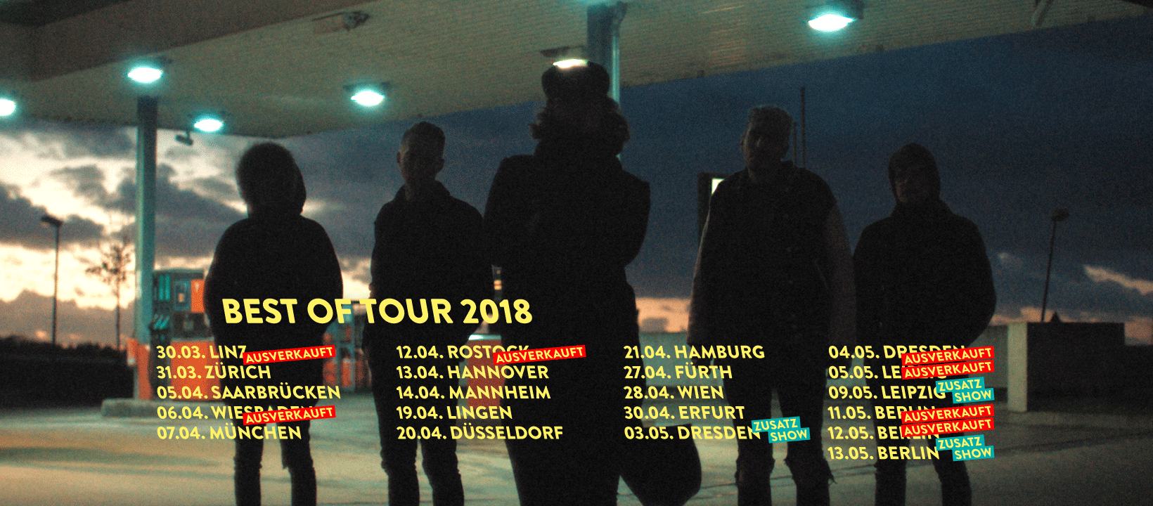 Jennifer Rostock - Tour 2018
