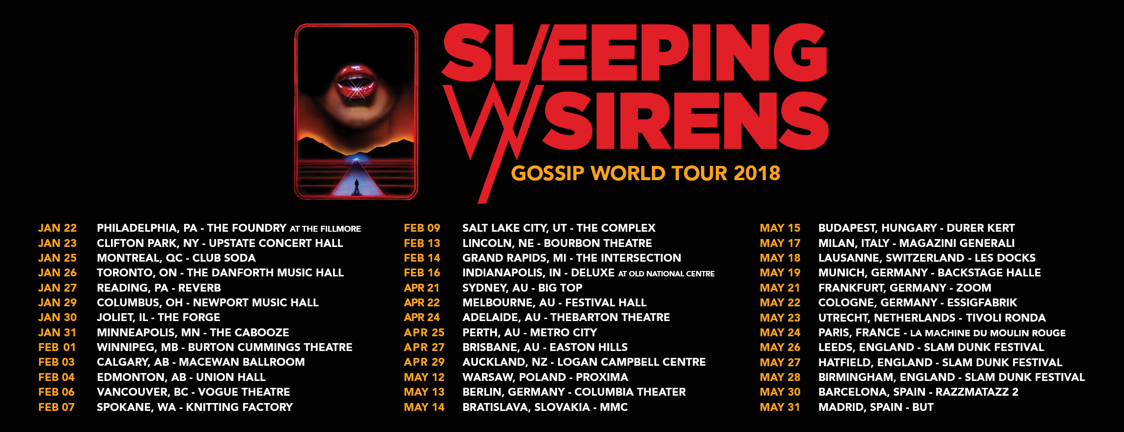 Sleeping With Sirens - Tour 2018