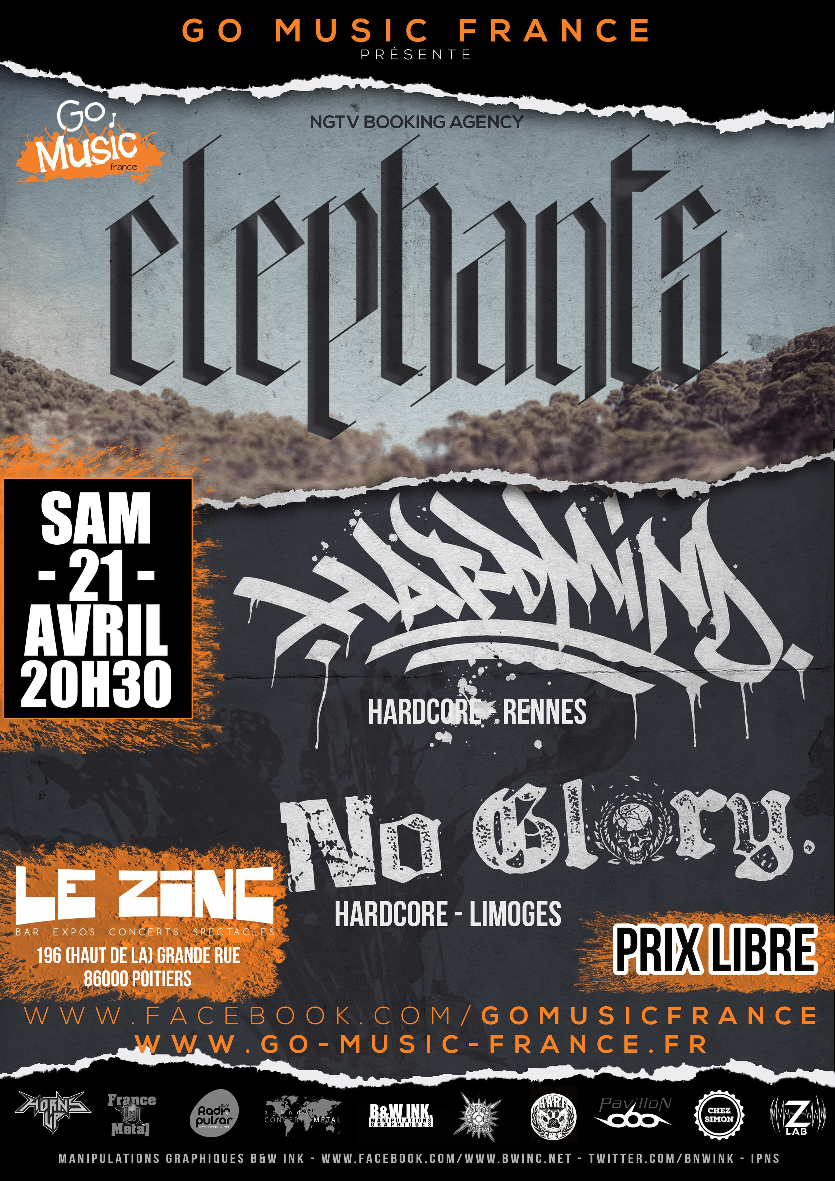 Elephants + Hardmind + No Glory