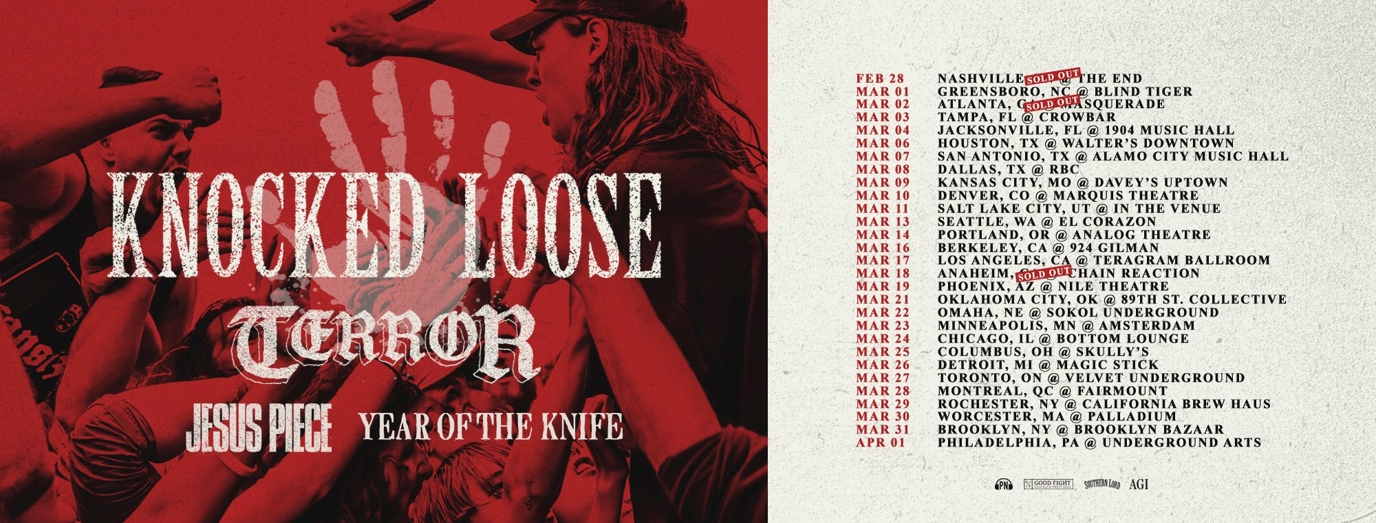 Knocked Loose - Tour 2018