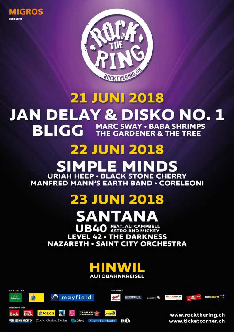 Rock The Ring 2018 20062018 4 Days Hinwil Zurich