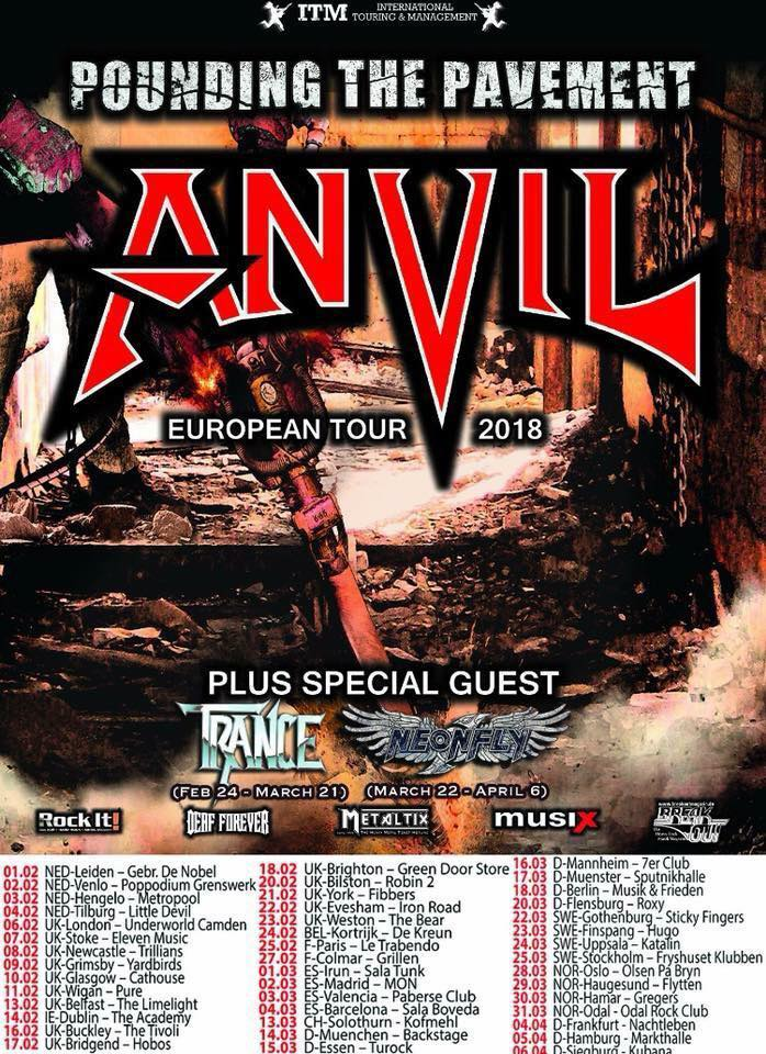 Anvil - Tour 2018