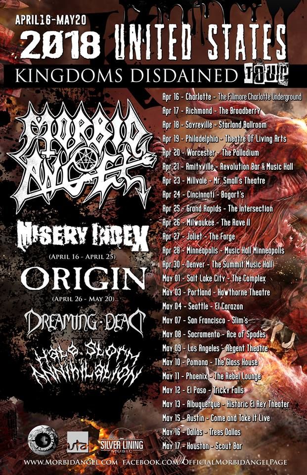 Morbid Angel - Tour 2018
