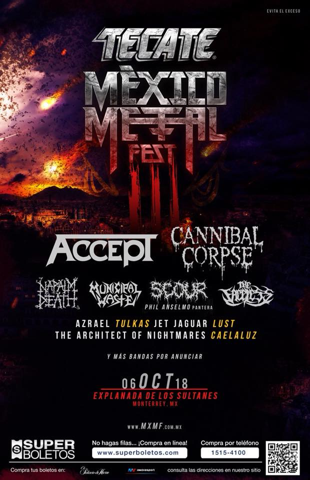 Tecate Mexico Metal Fest 2018