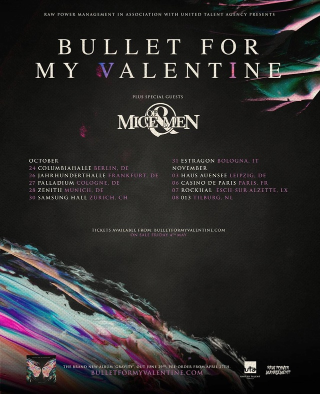 Bullet For My Valentine - Tour 2018