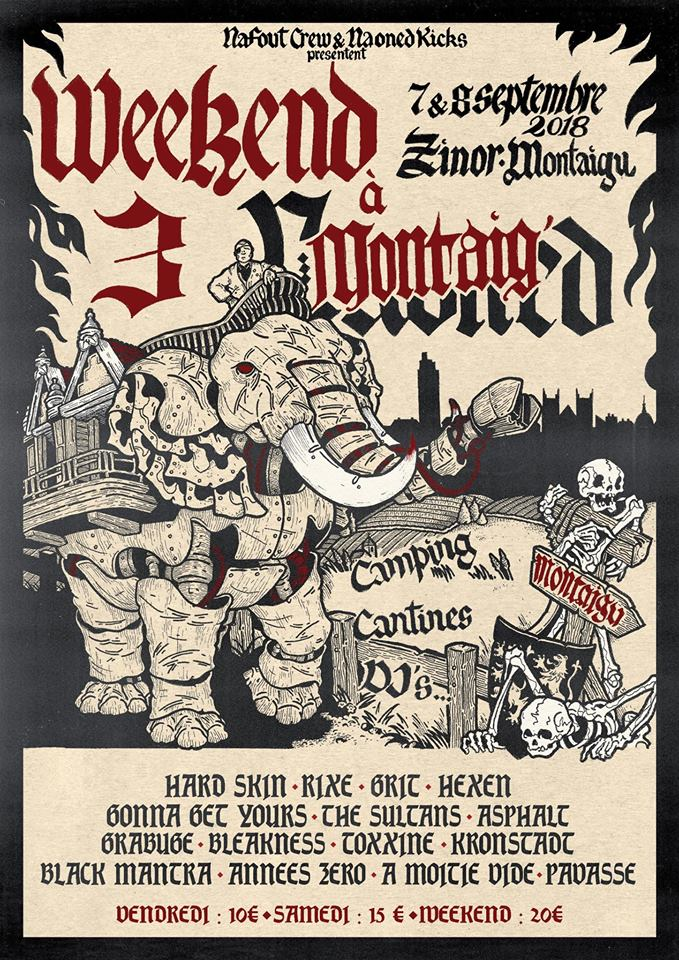 Week-End à Montaig' Vol III - Oi! & Punx Fest