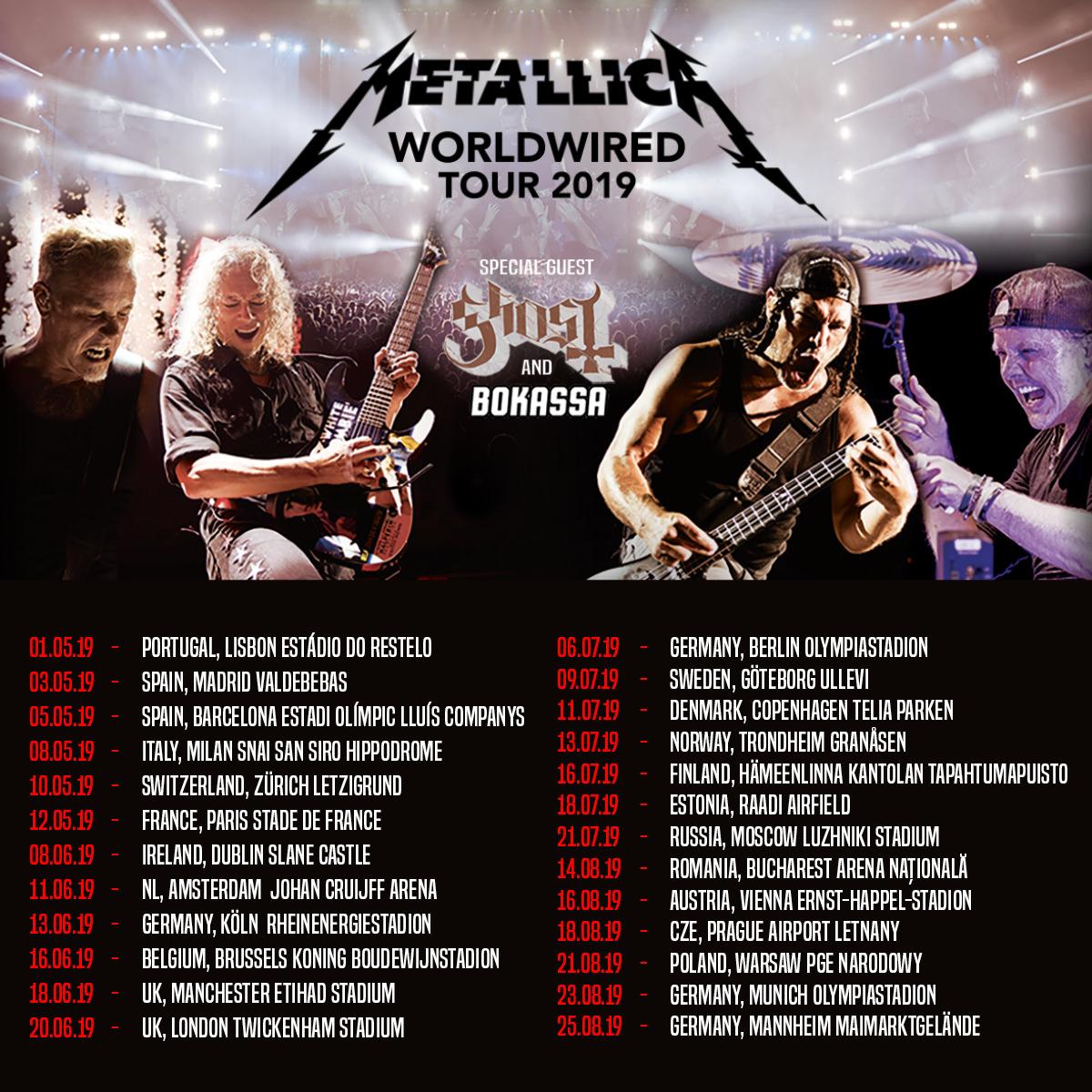 Metallica - Tour 2019 - 18/08/2019 - Prague - Czech Republic