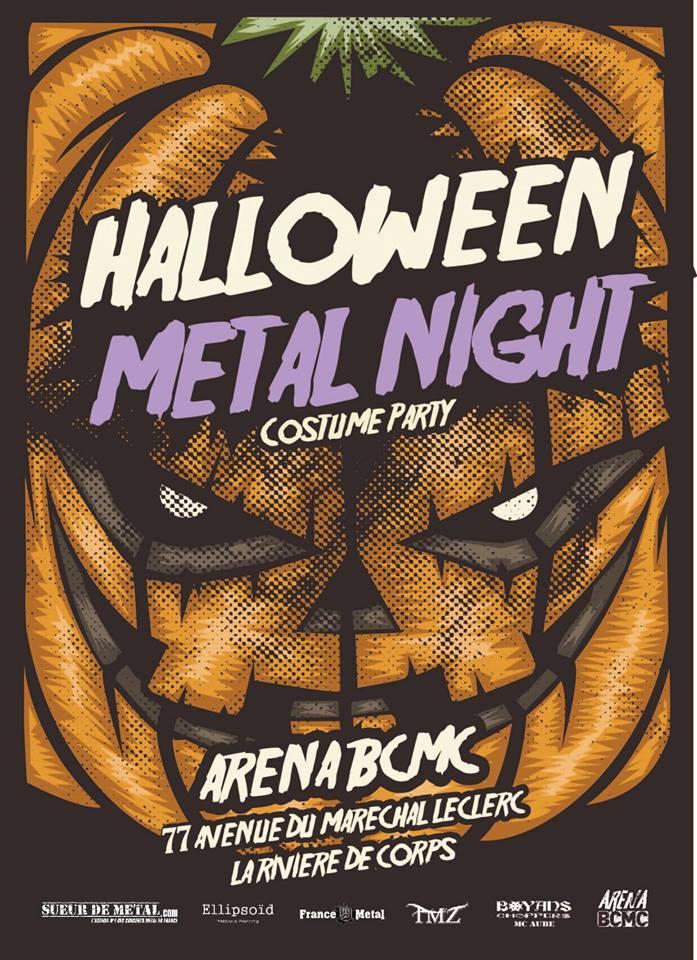 Halloween Metal Night 31102018 La Rivière De Corps Champagne