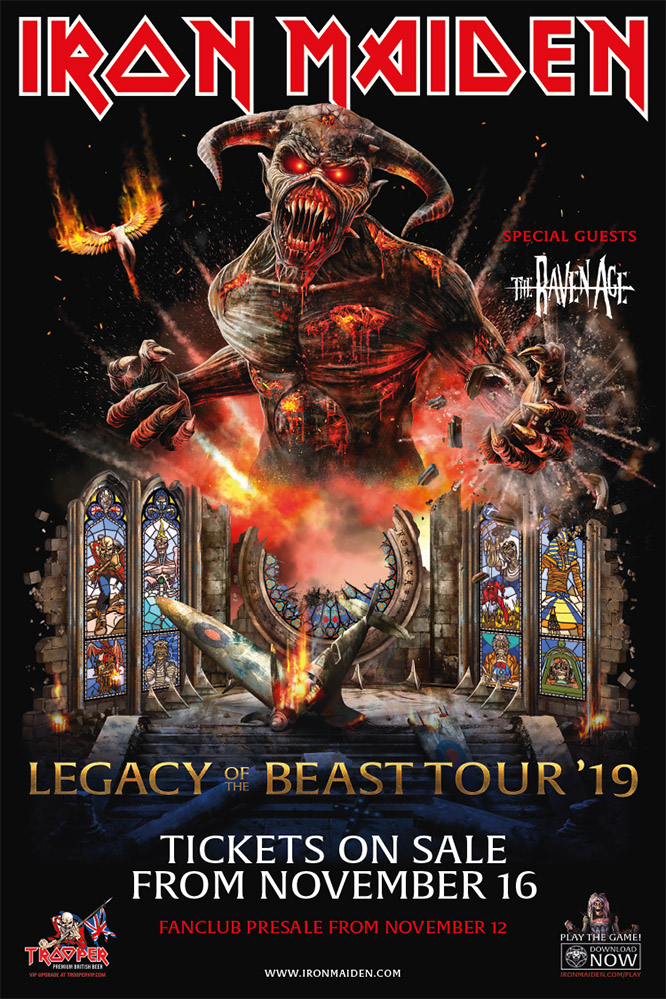 Iron Maiden Tour 2020.Iron Maiden Tour 2019 30 08 2019 E Dmonton Canada