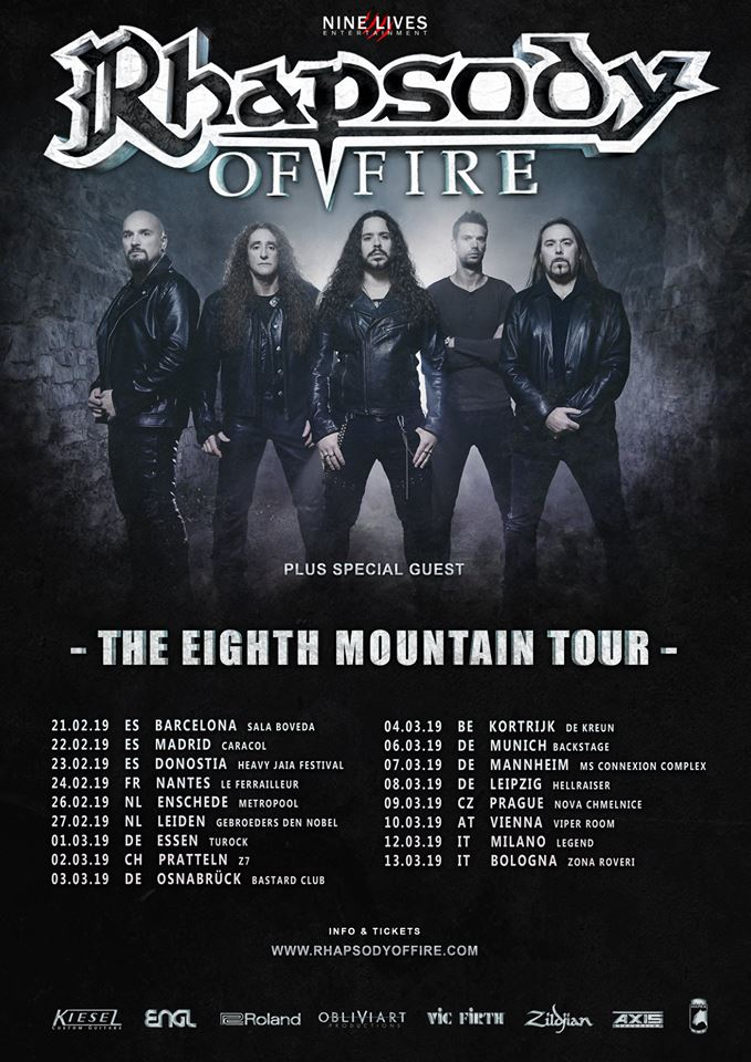 Rhapsody Of Fire - Tour 2019