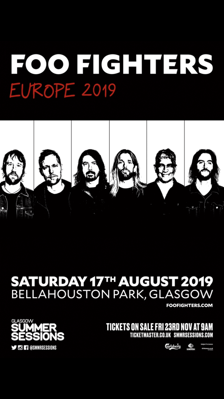 Foo Fighters Tour 2019 Foo Fighters   Tour 2019   17/08/2019   Glasgow   Scotland