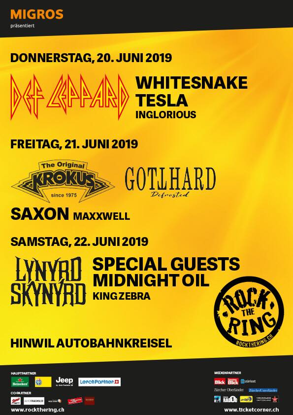 Rock The Ring 2019 20062019 3 Days Hinwil Zurich