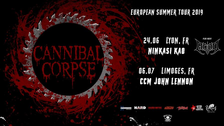 Cannibal Corpse Tour 2020 Cannibal Corpse   Tour 2019   24/06/2019   Lyon   Rhone Alpes