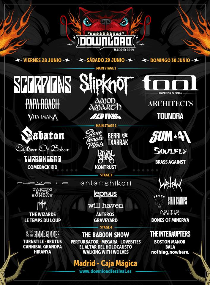 Download Festival Madrid 2019 - 28/06/2019 (3 days) - Madrid