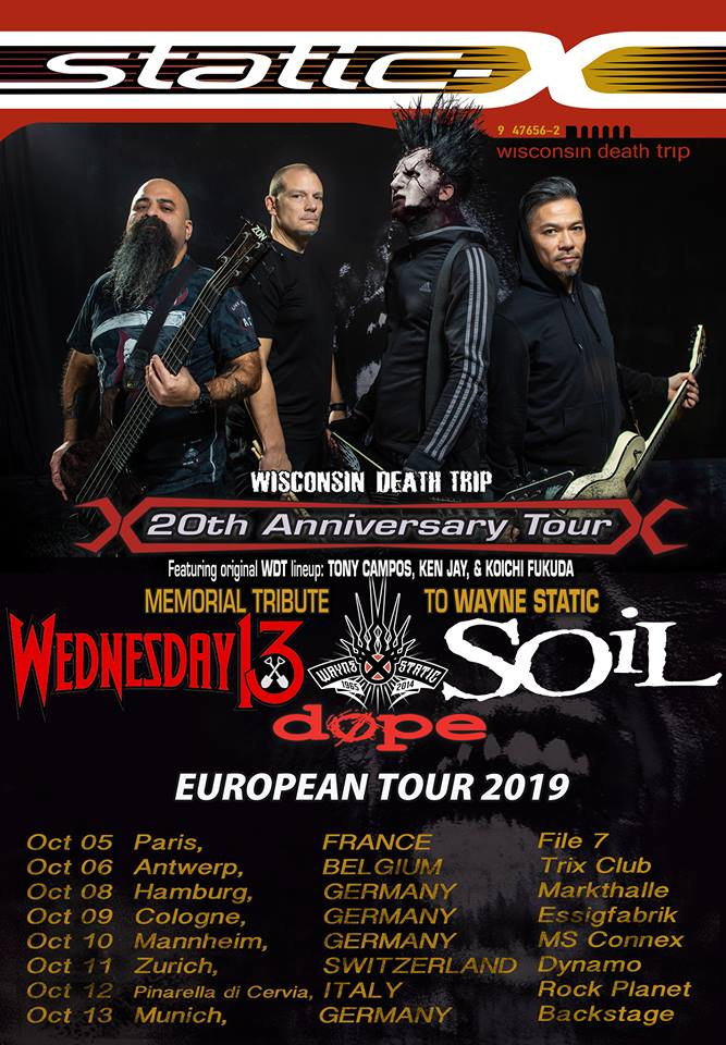 Static-X + Wednesday 13 + Guests