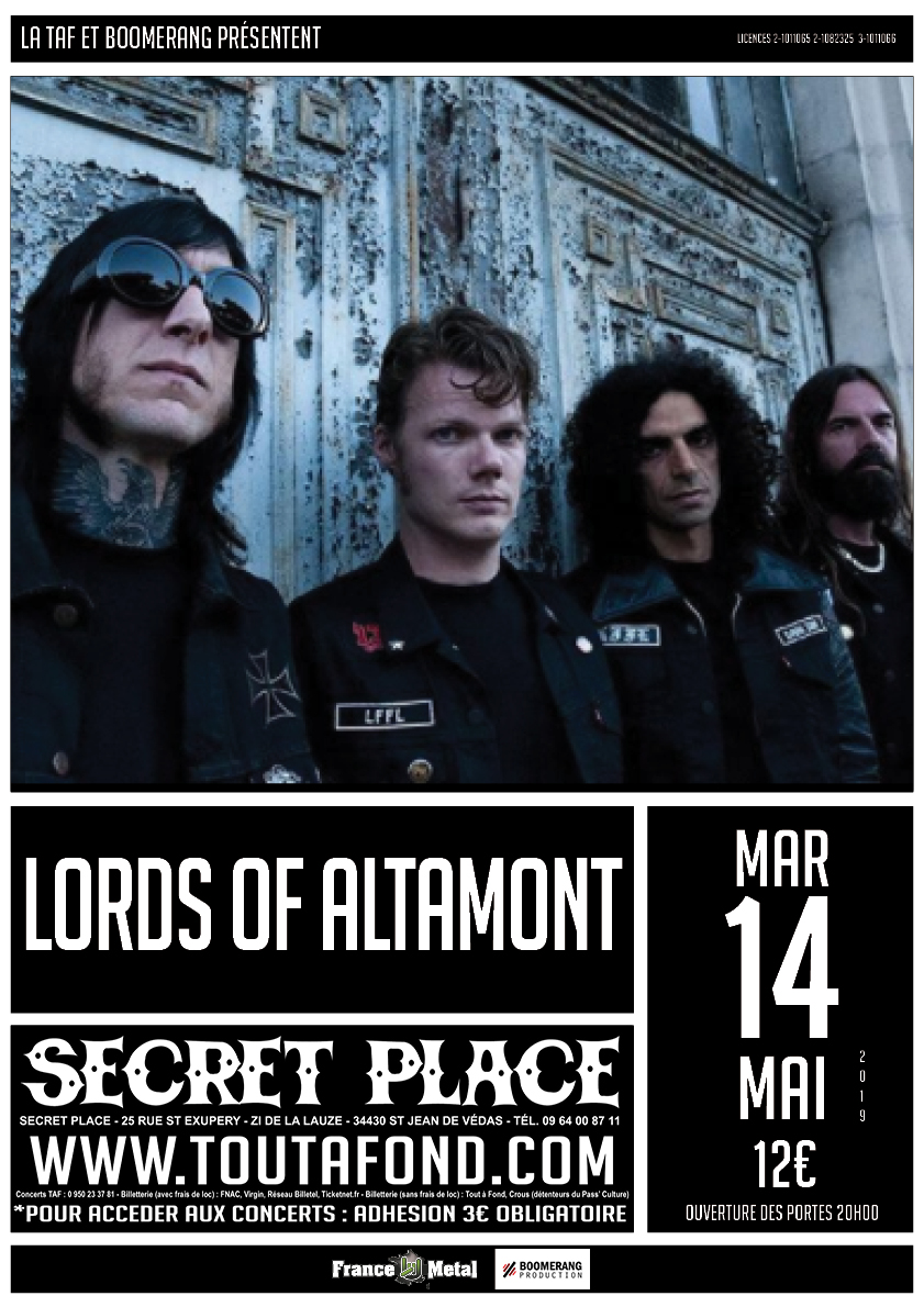 Lords Of Altamont - Tour 2019