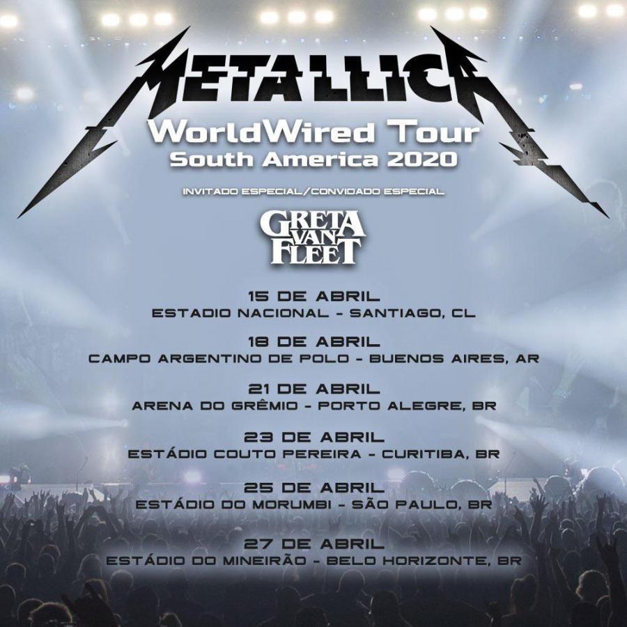 Stryper Tour 2020 Metallica   Tour 2020   23/04/2020   Curitiba   Brazil | Concerts