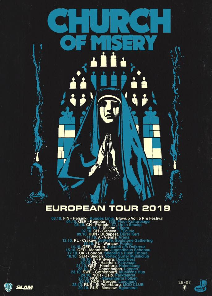 Church Of Misery - Tour 2019