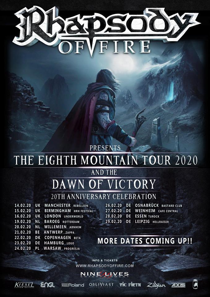 Rhapsody Of Fire - Tour 2020 - 21/02/2020 - Antwerp